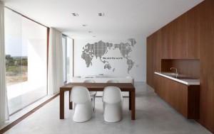 Žemėlapiai ant sienos