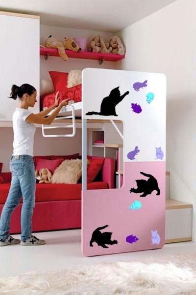 Sienų lipdukai - kačiukai