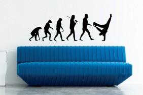 sienos lipdukas Evoliucija