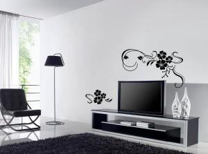 sienos lipdukai - gėlės