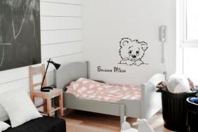 vaikiškas sienų lipdukas - meškinas