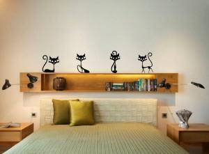 sienos lipdukai katės