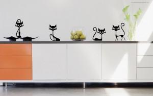 juodos katytės - lipdukai