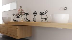 Lipdukai sienoms - Juodos katės