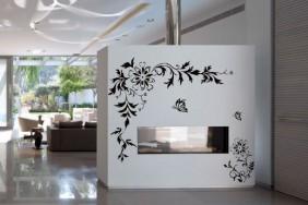 Lipdukai sienoms su gėlėmis