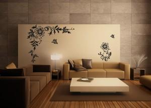 Lipdukai sienoms - gėlės