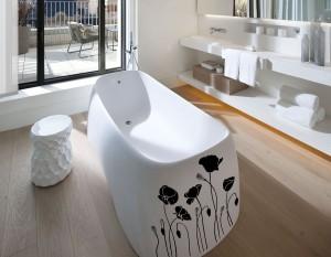 Lelijos - lipdukai voniai