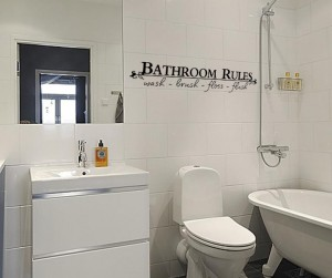 Vonios taisykles - lipdukai