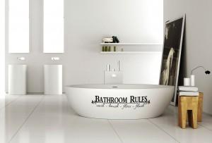 Vonios taisyklės - lipdukai